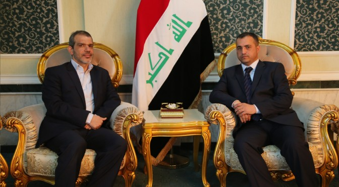 السيد الوزير مع السفير الايراني