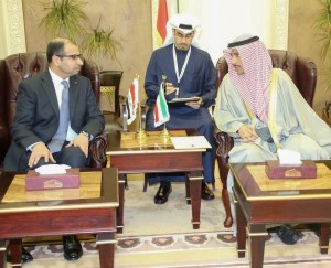 رئيس البرلمان خلال لقائه رئيس مجلس الأمة الكويتي (1)