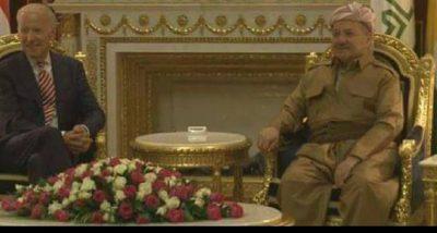 البارزاني يستقبل نائب رئيس الولايات المتحدة الأمريكية