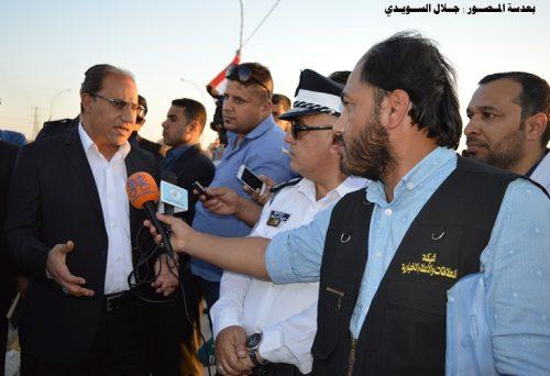 بكلفة ( صفر ) افتتاح مشروع صيانة الجسر الكونكريتي في الناصرية