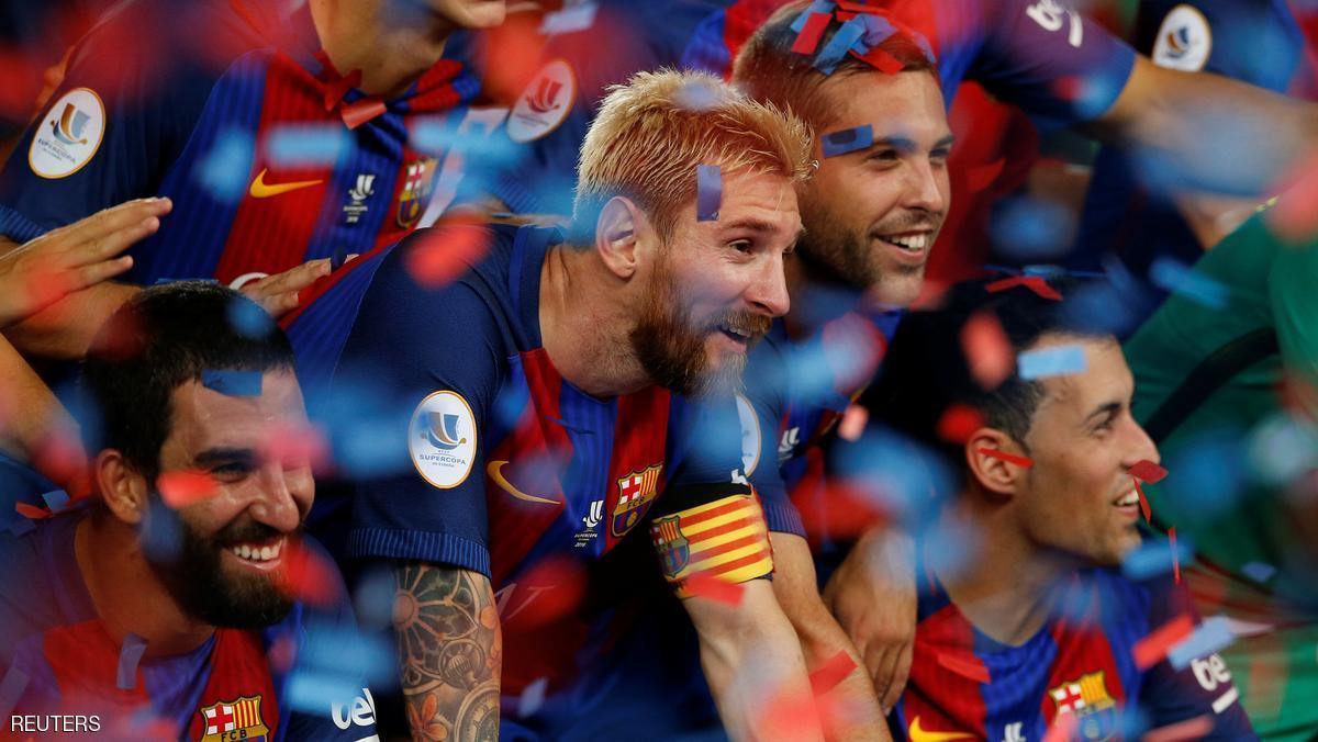 Football Soccer - Barcelona v Sevilla - Spanish SuperCup second leg - Camp Nou stadium